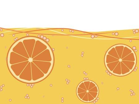 soda splash: Orange juice