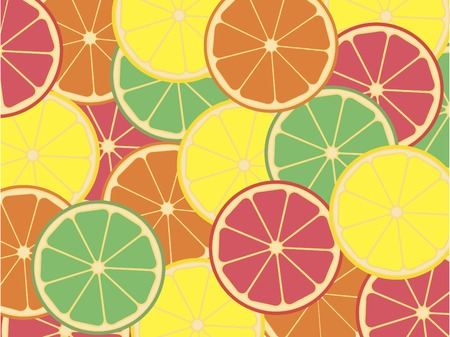 Citrus background Çizim