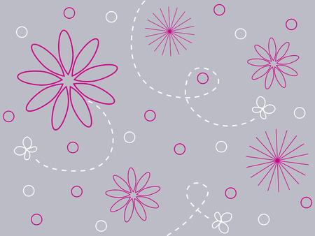 Flowers and butterflies design 版權商用圖片 - 3789036