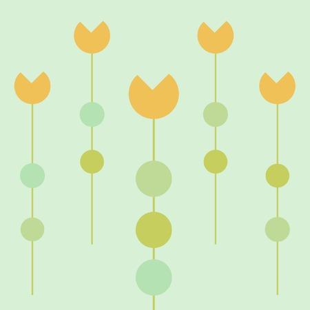 Stylized orange tulips Vector