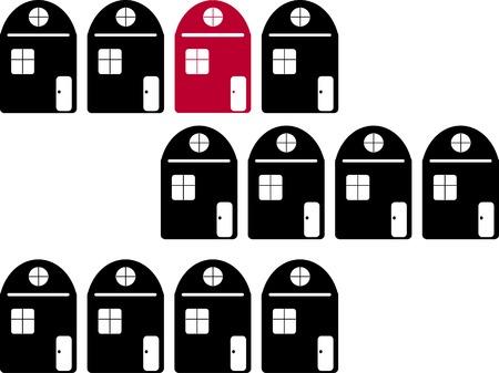 Real estate illustration 向量圖像