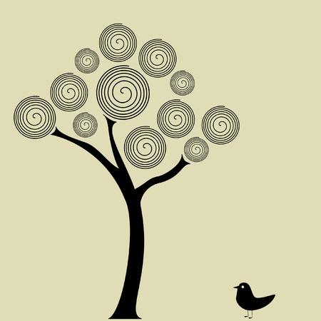 Spiral tree Vector