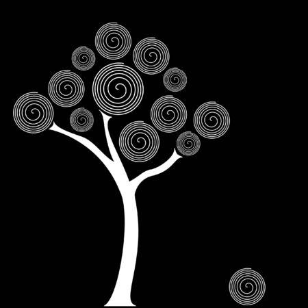 スワール: スパイラル ツリー  イラスト・ベクター素材