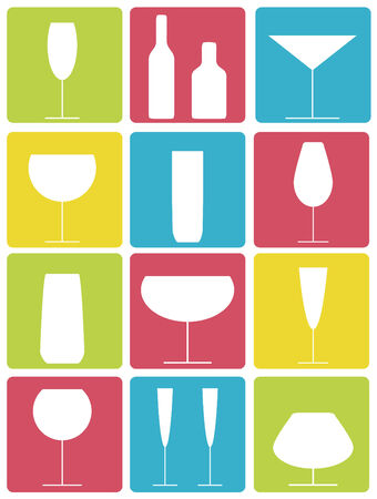 wrap vector: Drinks icons