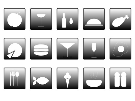 simple logo: Food icons