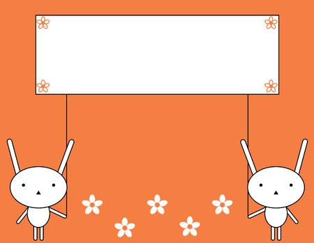 Bunny announcement Vector
