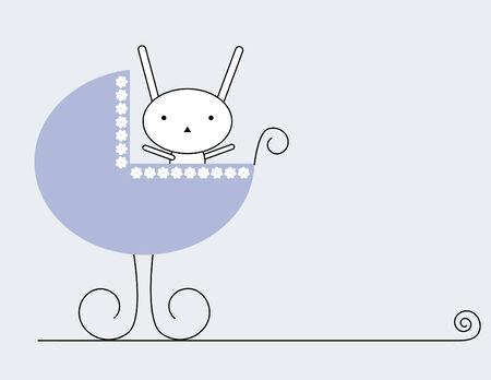 Bunny baby  イラスト・ベクター素材