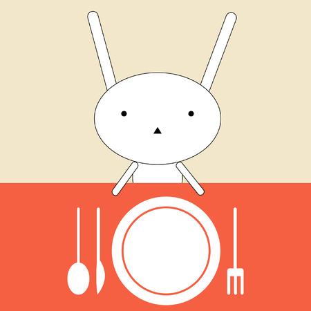 Bunny lunch Vector