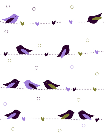 mating: Birds love Illustration