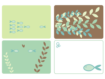 Four fish designs Vector