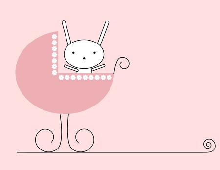 Bunny baby girl Stock Vector - 3868784