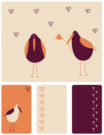 Birds love Illustration