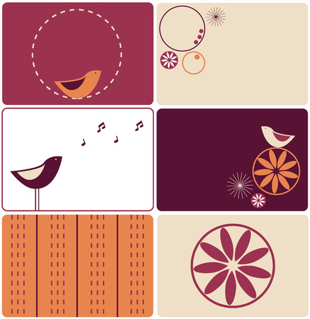 Set of six birds designs Stock Vector - 3936073