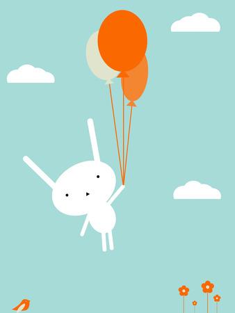 child care: Bunny flight