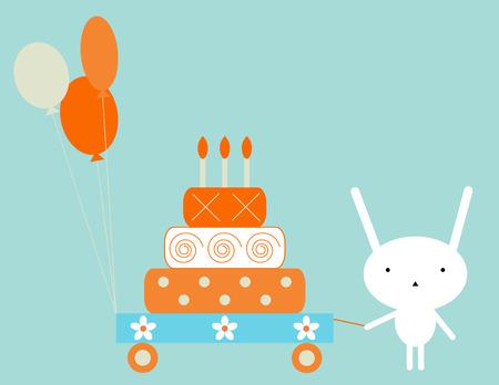 Bunny cumpleaños Ilustración de vector