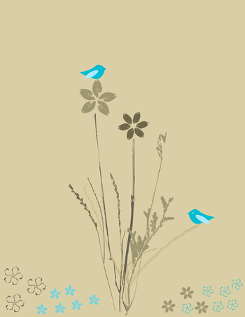 Flowers and birds