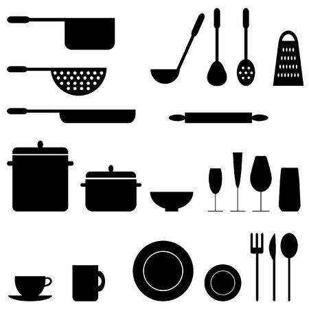 Keukengerei Stock Illustratie