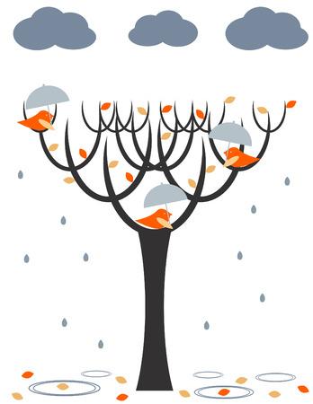 dry leaf: Rain birds
