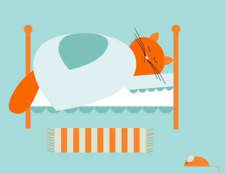 Bed time Stock Illustratie