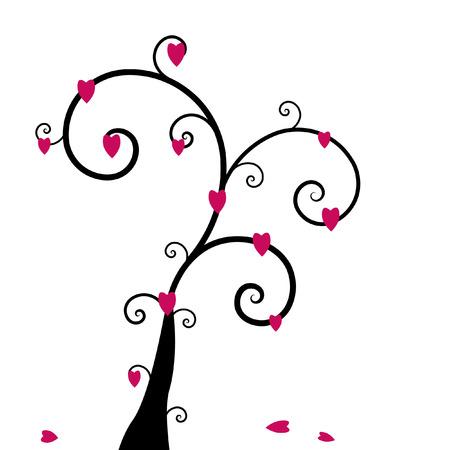 Hearts tree Vectores