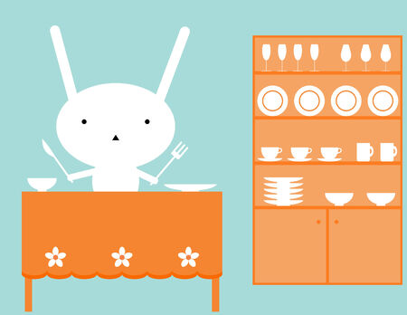 Bunnies lunch Vector