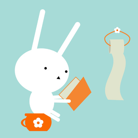 Bunnies reading Illustration