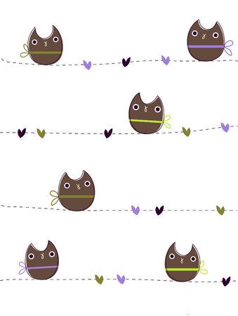 Owls in love Illusztráció