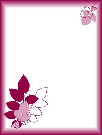 Pink plants frame