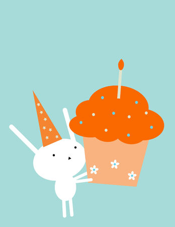 Birthday bunny Vector
