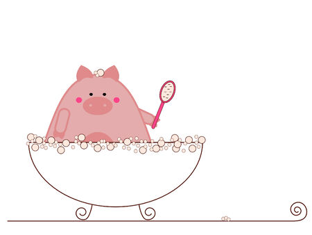 Hog wash Vector
