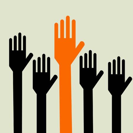 Votación manos