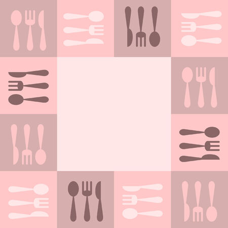 eating utensil: Kitchenware frame Illustration