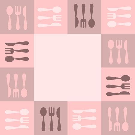 Kitchenware frame 矢量图像