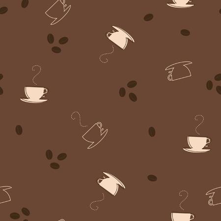 coffee beans: Seamless coffee pattern