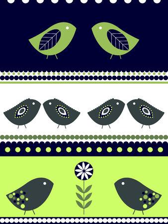 Birds designs Vector
