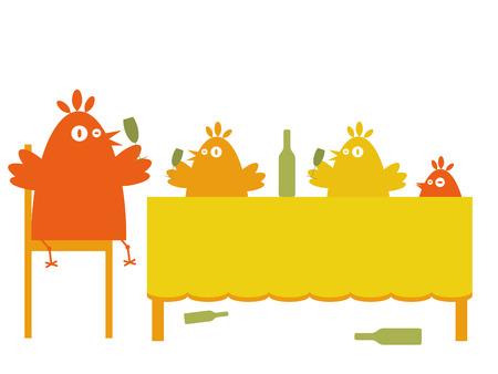 Birds party Vector