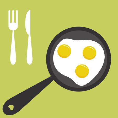 Fried eggs Stock Vector - 4379219