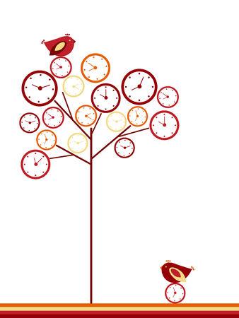 Clock tree Stock Vector - 4434404