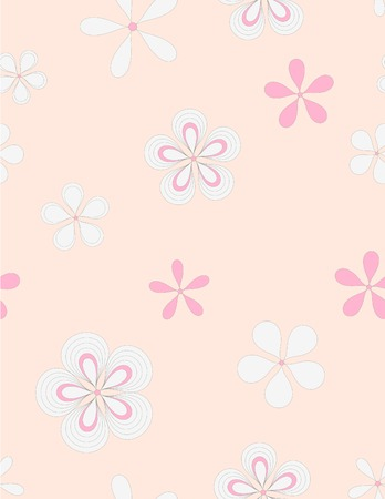 illustrations and vector art: Seamless flowers pattern Illustration