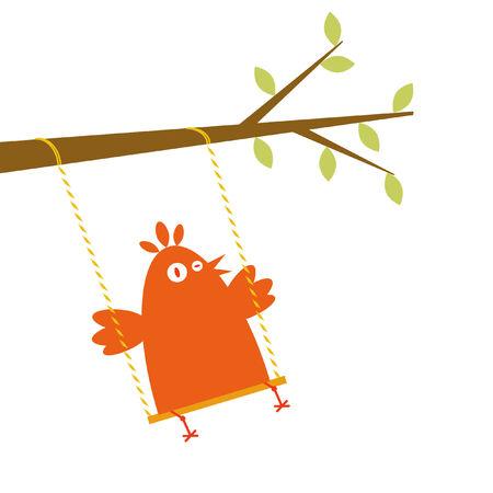 descuidado: Bird on a swing