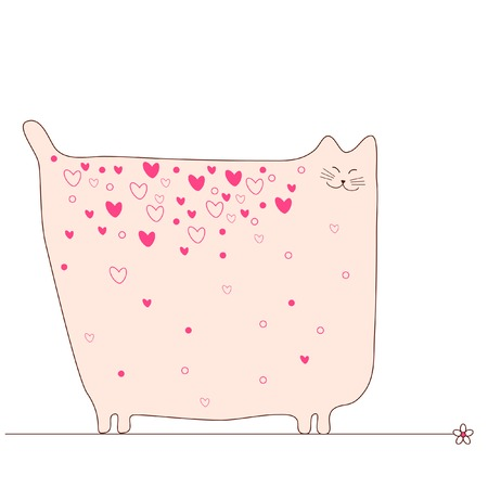 Love cat Vector