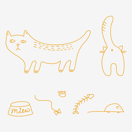 Cats doodles Vector