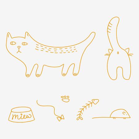 Chats doodles Banque d'images - 4632584