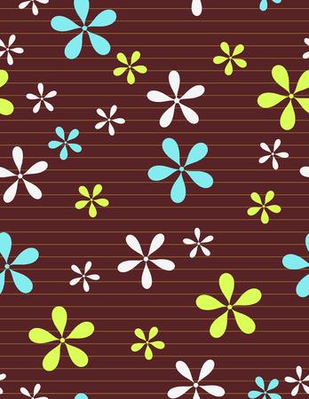 kahverengi: Dikişsiz çiçek desen Çizim