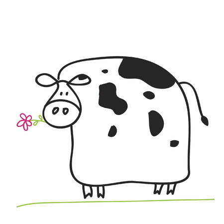 country flowers: Cow