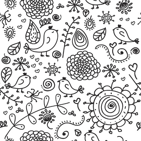 Seamless doodles Vector