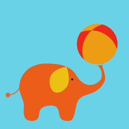 happy kids: Circus elephant