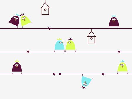 狂気の鳥  イラスト・ベクター素材