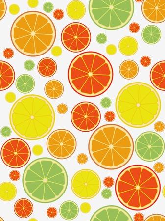 zest: Citrus seamless pattern Illustration