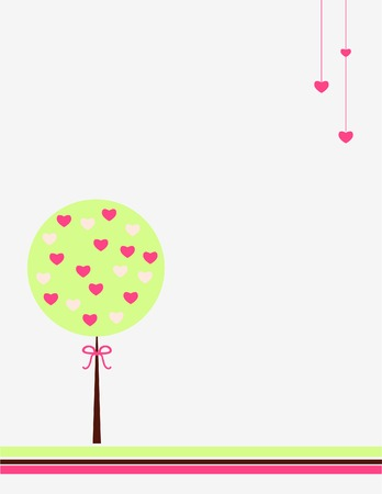 Hearts tree Stock Vector - 5078087